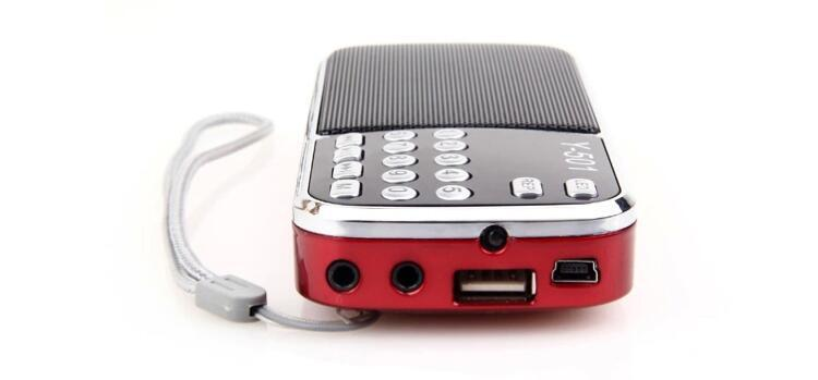 Mini Portable Digital Stereo FM Mini Radio Speaker Music Player with USB AUX Input Sound Box