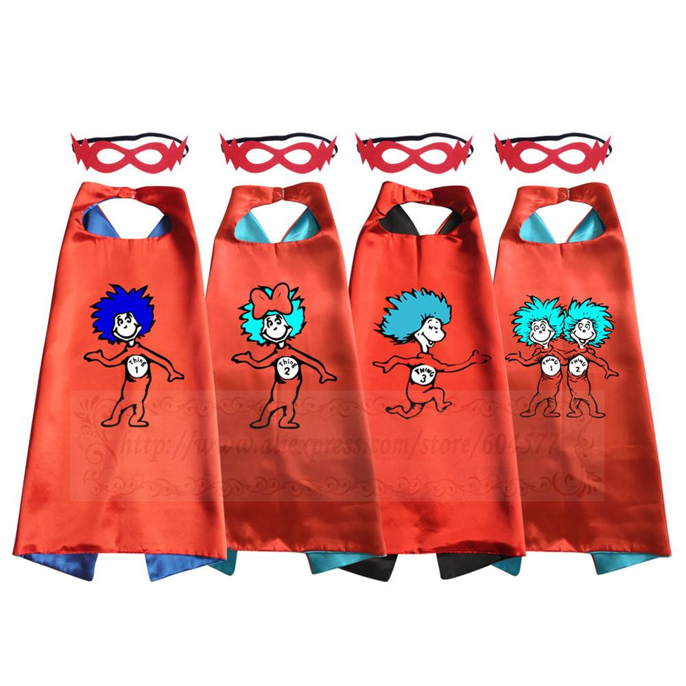 Boys Costumes Girls And Boys Thing 1 Thing 2 Costumes Cape With
