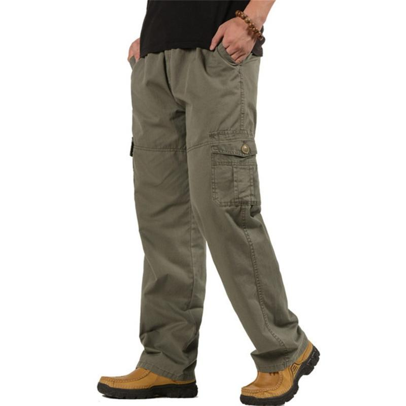 a46bfe01ba7b Men s Tactical Cargo Pants Autumn Winter Overalls Loose Combat Baggy Cotton  Multi-Pocket Trousers Army Military Pants 5XL 6XL C18110201 Online with ...