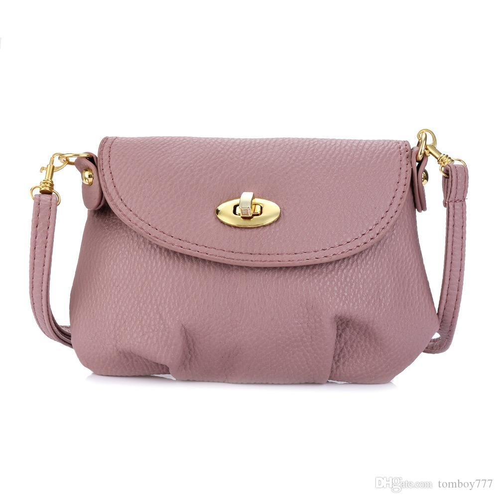 New Cassual Women Shoulder Bags Solid Color Twist Lock Detachable Strap  Shoulder Messenger Mini Bag For Lady Mcvilla Weekend Bags Luxury Bags From  Tomboy777 ... 28423591e9e87
