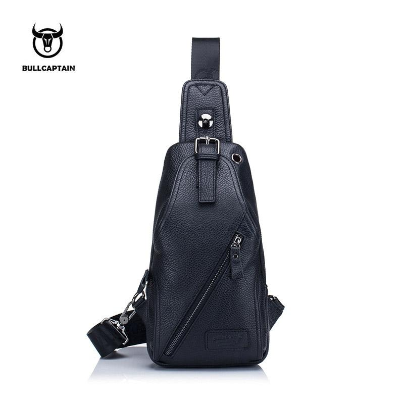 BULLCAPTAIN MEN Shoulder BAGS Small Brand Casual Messenger Bags Fashion  GENUINE Leather MALE Crossbody Bag Men Chest Bag088 Men Chest Crossbody  Shoulder ... 62d681fbc30db