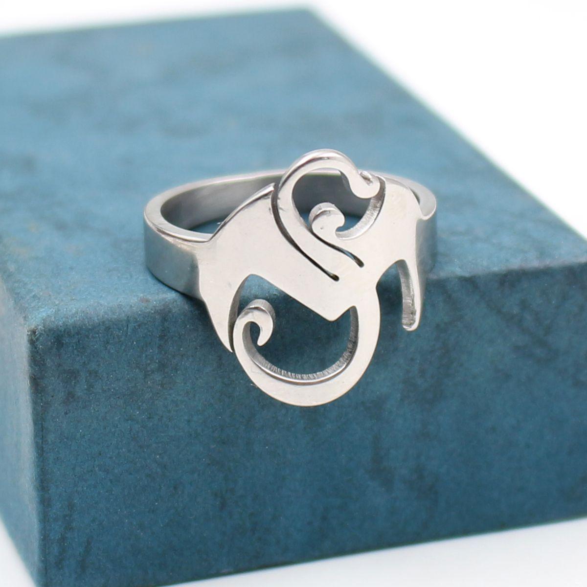 Tech N9ne ESTRANHO MÚSICA anel inoxidável setll charme prata TWIZTID Altamente polido
