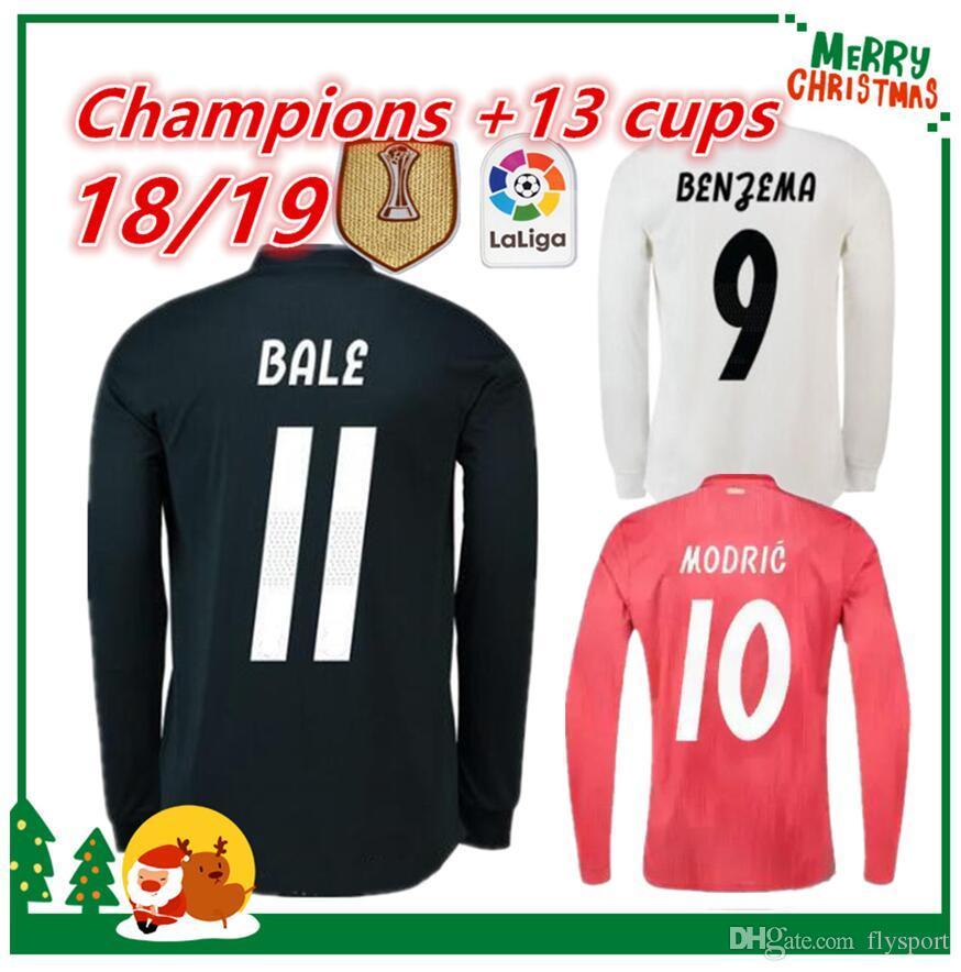 online retailer 72141 4a0b6 Long sleeve 18 19 Real Madrid Soccer Jersey 2018 2019 Home Soccer shirt #7  RONALDO #8 KROOS #22 ISCO Modric Football uniform