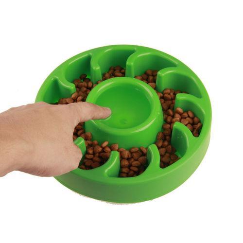 Anti Choking Pet Bowls Prevenção Overeat Plástico Cat Dog Bowl Saudável devagar Comer Feeder Dish GGA331
