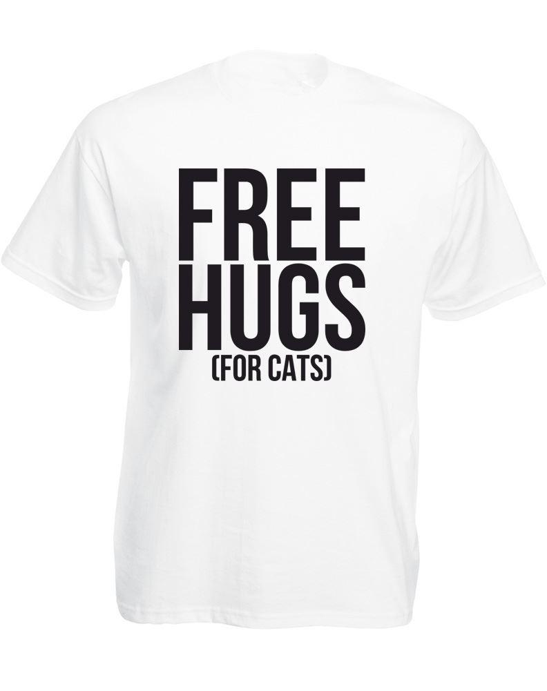 Make Your Own Logo T Shirt Vintage Men'S Fashion Crew Neck Super Free Hugs  For Cats Short Sleeve T Shirts T Shirt With Shirt Moto Shirts From  Shirtshotop, ...