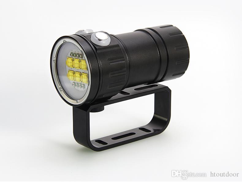 QH14-7 500 Вт 50400lm подводный 80 м IPX8 водонепроницаемый профессиональный светодиодный дайвинг фонарик Фонарик фото фотография видео свет