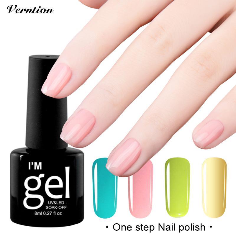 Verntion 8ml One Step Gel 3 In 1 UV Gel Nail Polish Soak Off UV LED ...
