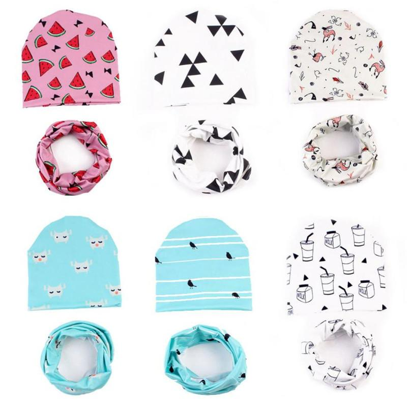 ac09004dfd8 2019 Baby Cute Winter Kids Baby Cap Hats Keep Warm Set Cute Hat + Scarf  Cotton Blended Bonnet Enfant From Fkansis