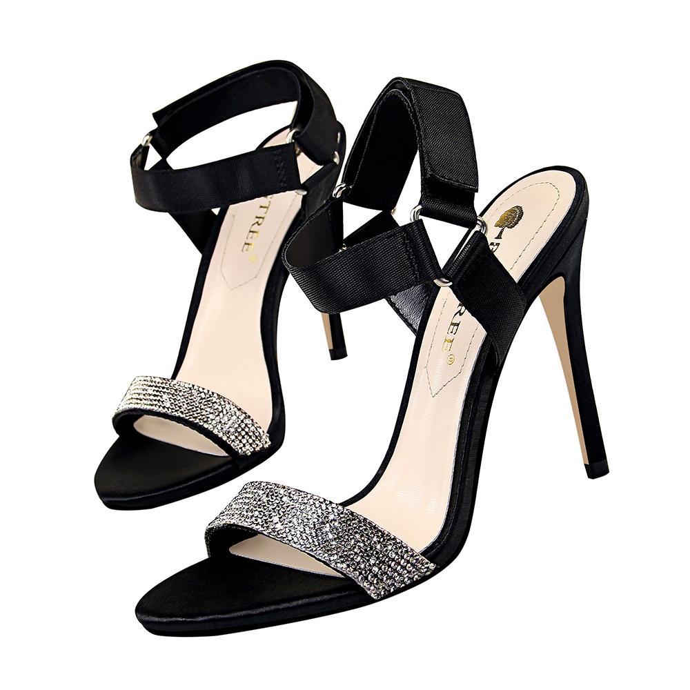 afc3af7212584c Sexy Rhinestone Sandals Women Heels Pumps Open Toe High Heels Shoes ...