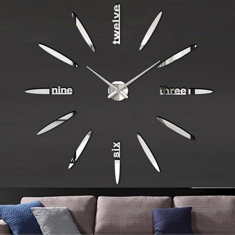 New Quartz Diy Modern Clocks Needle Acrylic Watches Big Wall Clock Mirror Sticker Living Room Decor Large Designer Digital From