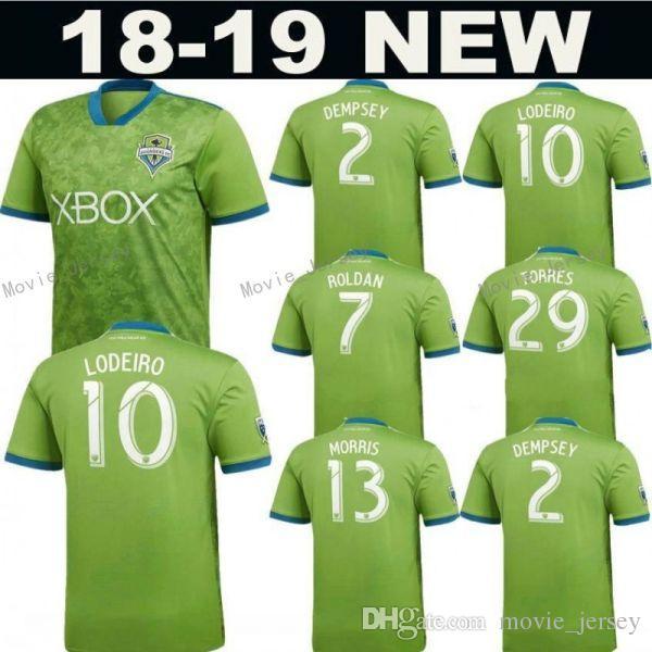 on sale afa6e 7a339 2018 2019 MLS Seattle Sounders Jersey Men Soccer 2 DEMPSEY 13 MORRIS 29  TORRES 6 ALONSO 17 BRUIN Football Shirt Kit Team Green