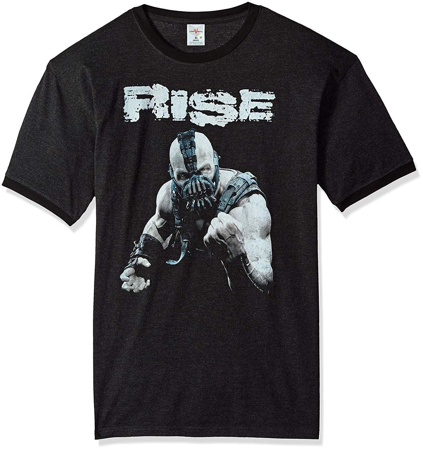 3750c7cea Trevco Men's Ordenanza Dark Knight Rises Short Sleeve T-Shirt, Black ...