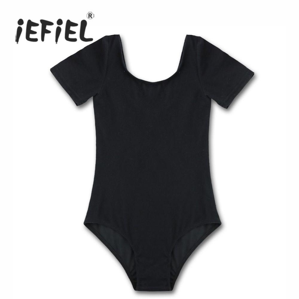 e9d26f6611fc IEFiEL Girls Ballet Dress Children s Dancer Gymnastics Leotard Short ...