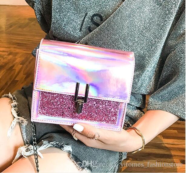 8df4361d2e6 Compre Moda Para Mujer Bolsos De Hombro es New Chic Lentejuelas Pequeñas Cross  Body Bags Ladies Casual PU De Cuero Crossbody Bolso Totes Accesorios A   19.8 ...