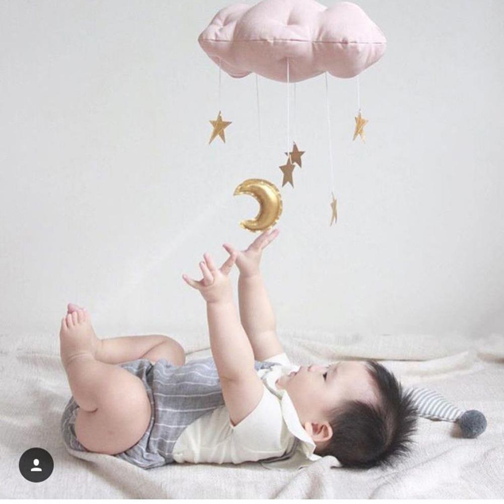 Grosshandel Kreative Baumwolle Wolke Sterne Mond Zelt Wandbehang