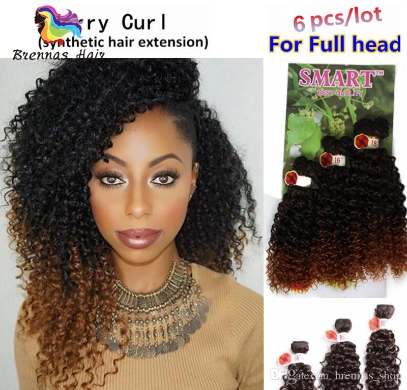 2019 Good Quality Pack Synthetic Curly Brazilian Hairstyles Curly