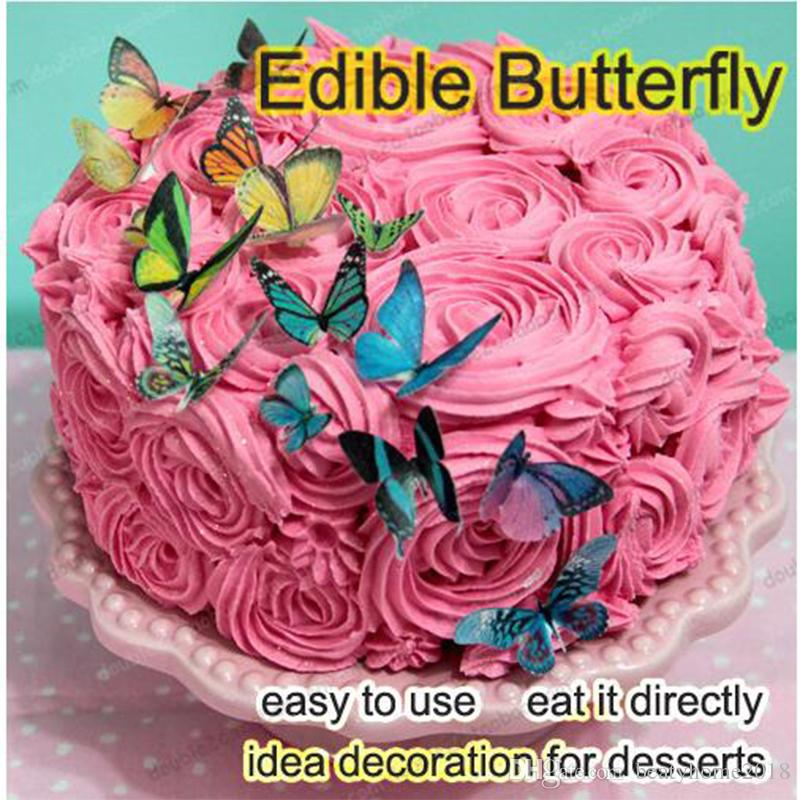 2018 Edible Butterfly For Cake 3d Butterflies Cake Decorations Tools