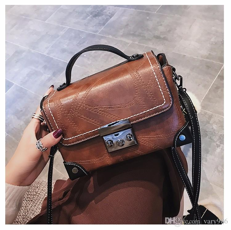 99559a350dca 2017 New Women Handbag Fashion Shoulder Messenger Bags Box Type Handbag  Retro Lady Shoulder Bag Maiduoduo 10 Handbags Wholesale Purses For Sale  From Vary986 ...