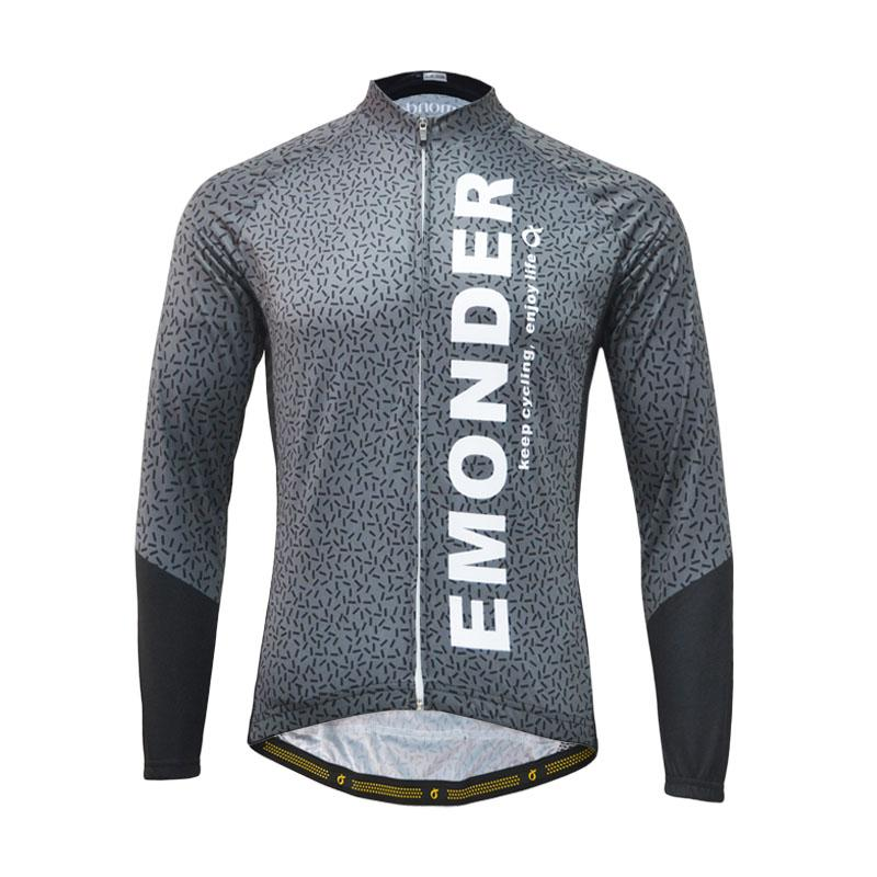 4d4b8cb9b EMONDER 2018 Autumn Unisex Long Sleeve Cycling Jersey Breathable Quick Dry  Windproof Cycling Top Jersey For Men And Women Bike Shirt Bike T Shirts From  ...