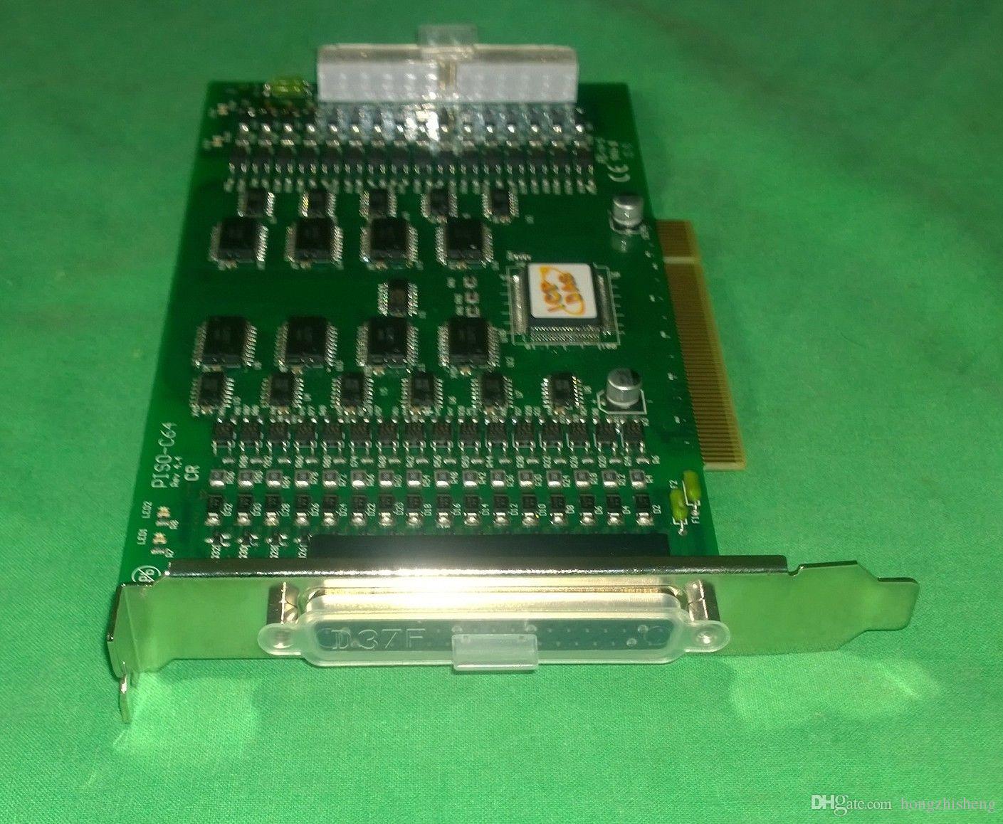 Endüstriyel ekipman kurulu PISO-C64 ICP DAS REV 3.0 64 Kanal Optik Olarak Izole Açık Toplayıcı Dijital Çıkış Kurulu