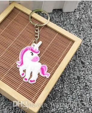11 estilo unicórnio bolsa chave anel multi cor arco-íris unicórnio mini anel chave saco chaveiro pingente de jóias crianças presente decoração acessórios