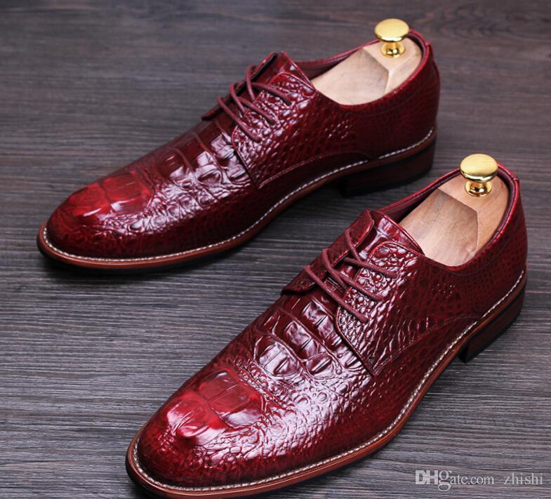 새로운 패션 남성 악어 캐주얼 플랫 캐주얼 신발 클래식 남성 모카신 로퍼 운전 비즈니스 신발 드레스 신발 남성 G1.20