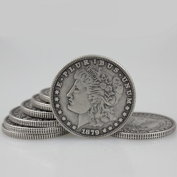 Großhandel Erweiterte Shell Super Morgan Dollar Zaubertricks Münze