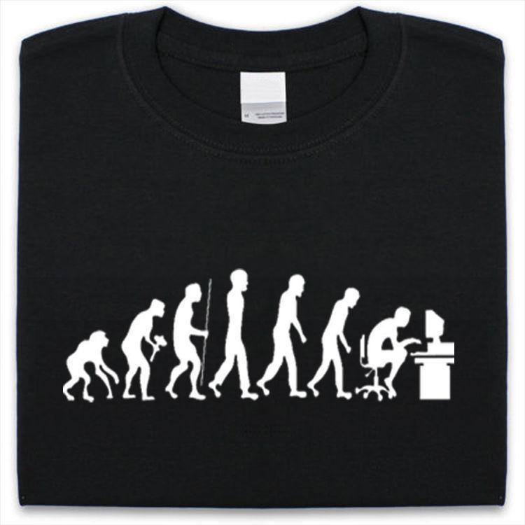 761e38fb Evolution Of Geek T Shirt Mens Womens Funny Geek Nerd Computer Big Bang  Theory Political Shirts Shirt T Shirt From Linnan00004, $14.67| DHgate.Com