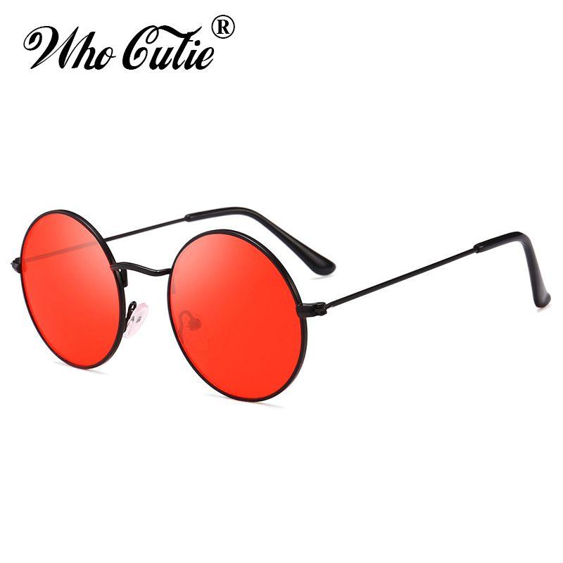 ff73a9d781 Compre OMS CUTIE Gafas De Sol Redondas De Verano Retro Marca Diseñador Hombres  Mujeres 2018 Vintage Círculo Negro Rojo Rosa Lente Gafas De Sol Tonos 652 A  ...