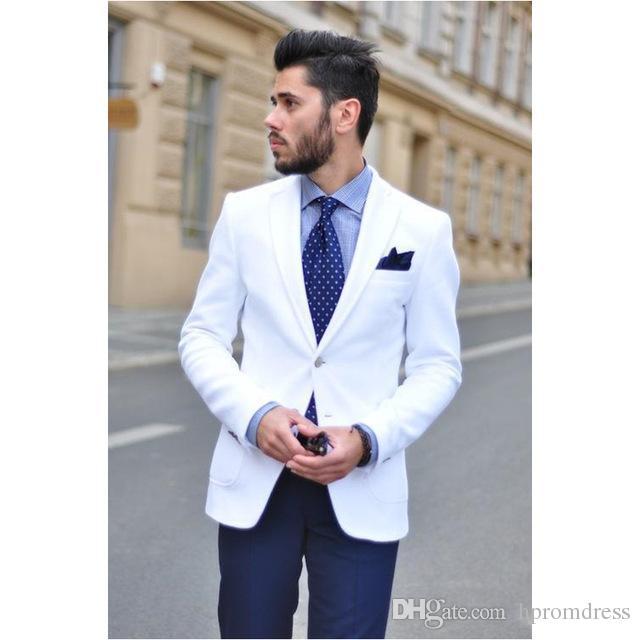 Grosshandel Benutzerdefinierte Weiss Hochzeit Anzuge Fur Manner