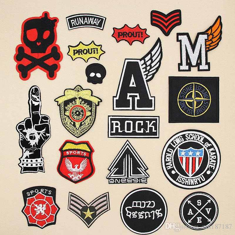 2018 Quality Military Sets Letter Gesture Skull Badge Patches Logo