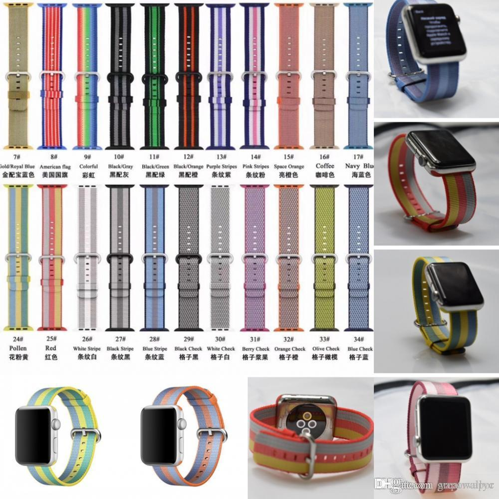 woven nylon strap band for apple watch 3 42mm/38mm Wrist band Sport Fabric-feel Bracelet for iwatch 3/2/1 clock band