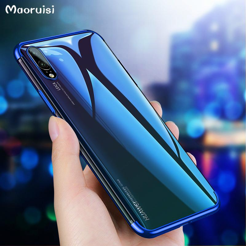 various colors d1e86 b8516 Plating TPU Case for Huawei P20 Pro Soft Case for Huawei P20 Lite P10 P9  Plus Honor 8 Lite V10 7X Mate 10 Pro