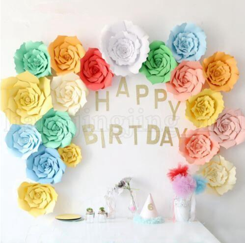 20cm 30cm 40cm DIY Paper Flowers Backdrop Wall Decor Wedding Event