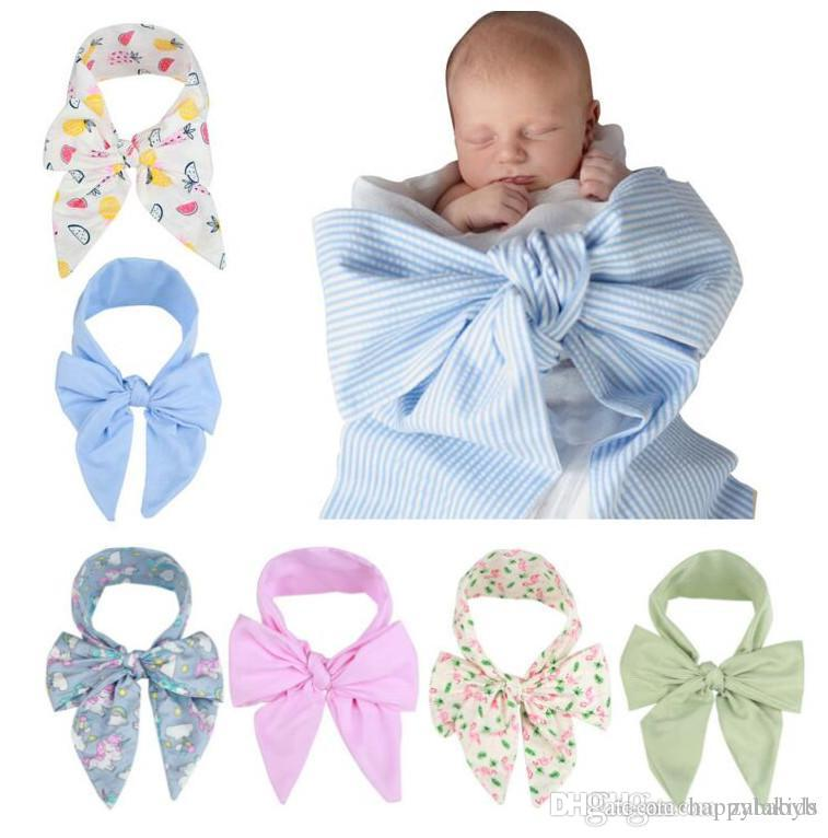 Free Dhl Newborn Baby Swaddle Wrap Photography Props Dovetail Bow