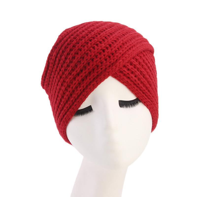 3847a725165ee Fashion Knitted Twist Winter Turban Hat Women Head Wrap Caps For Women  Headwrap Hat Girls Croceht Beanies Beanie Hoodies From Clintcapela