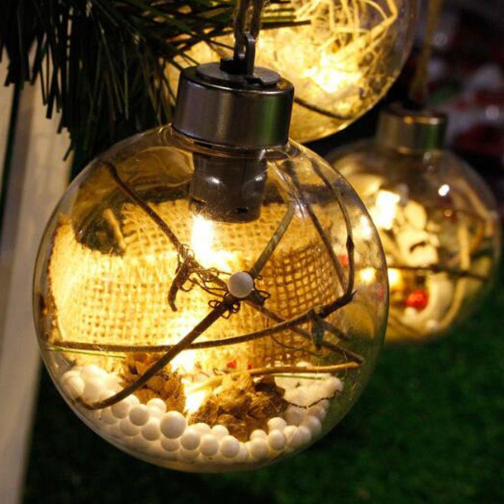 nouvelle arrivée arbre de noël boule led lumières décorations de noël en plein air jardin camping suspendu LED boule ronde lumières