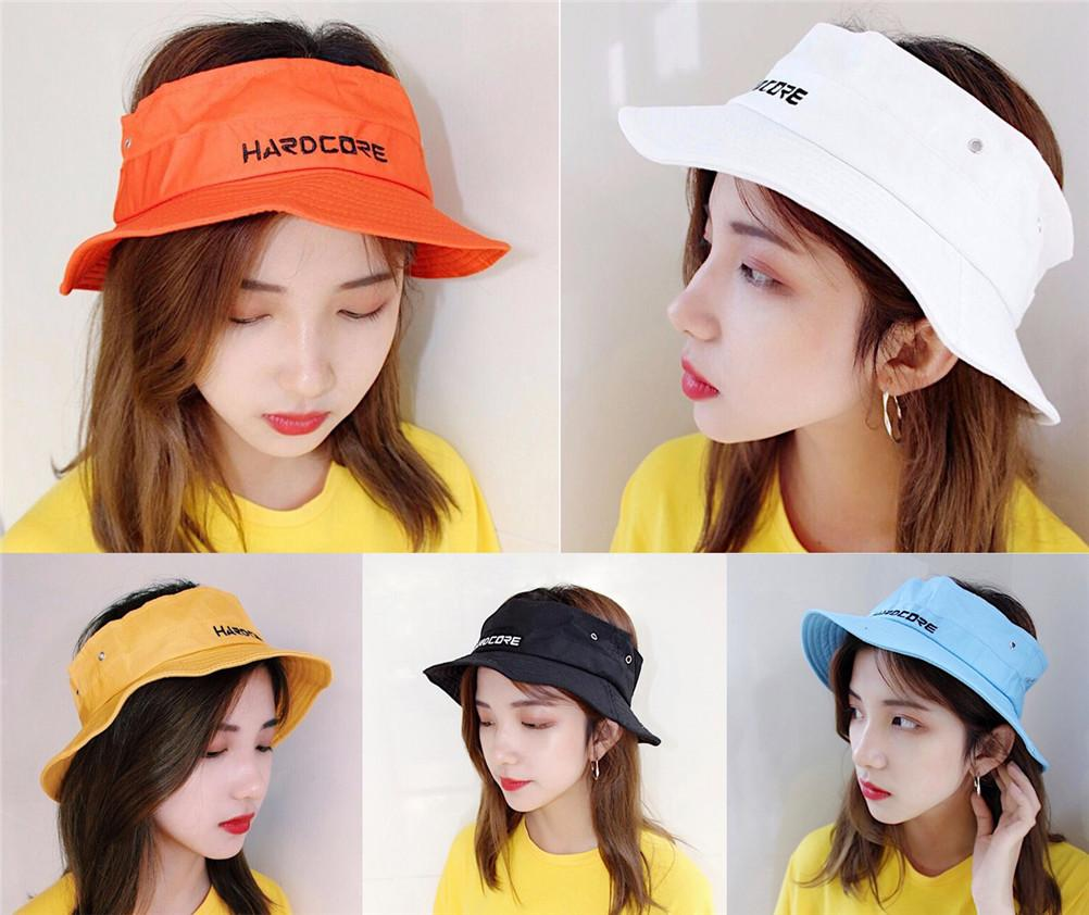 Fashion Sunscreen Cap Women Embroidered Shade Outdoor Cap Beach ... 956db6e401f