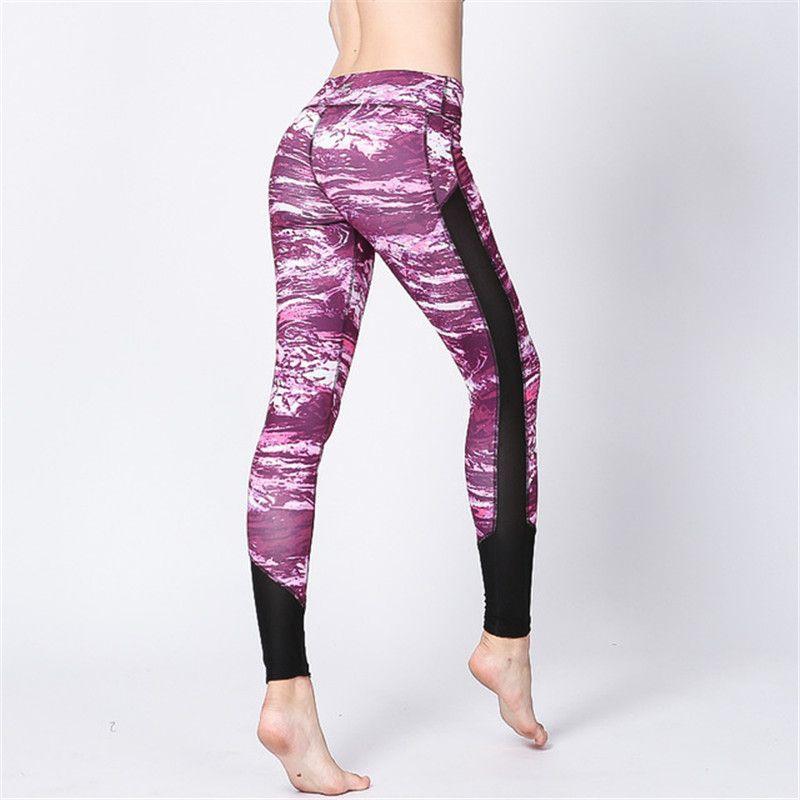 f08a53f0ce6b0 2019 ESHINES Mesh Women Sexy Yoga Pants Dry Fit Sport Pants Fitness ...