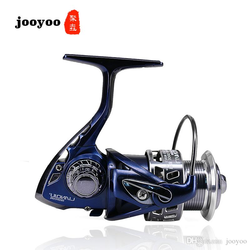 Metal Spool Spinning 3000 4000 5000 Series 5.5:1 Fishing Reel 9+1BB Wheel Gear Ratio Knob Handle Right Left Hand