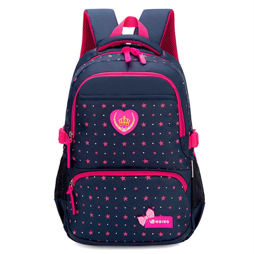 2f2ca509fa963 Großhandel Star Printing Kinder Schultaschen Für Mädchen Teenager ...