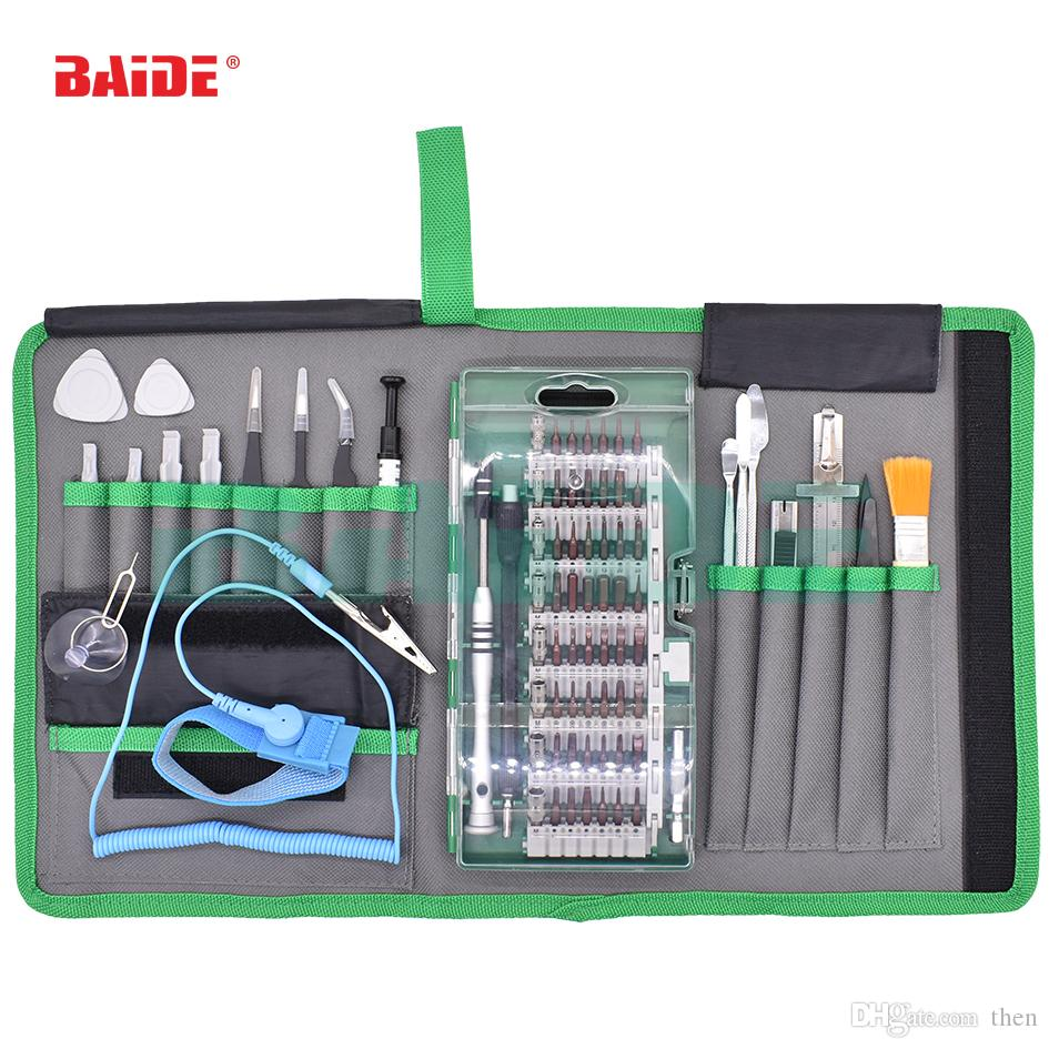 Wholesale 80 in 1 Precision Screwdriver Set Magnet Repair Tool Kit with Portable Bag for iPhone Cell Phone iPad Tablet PC Tools