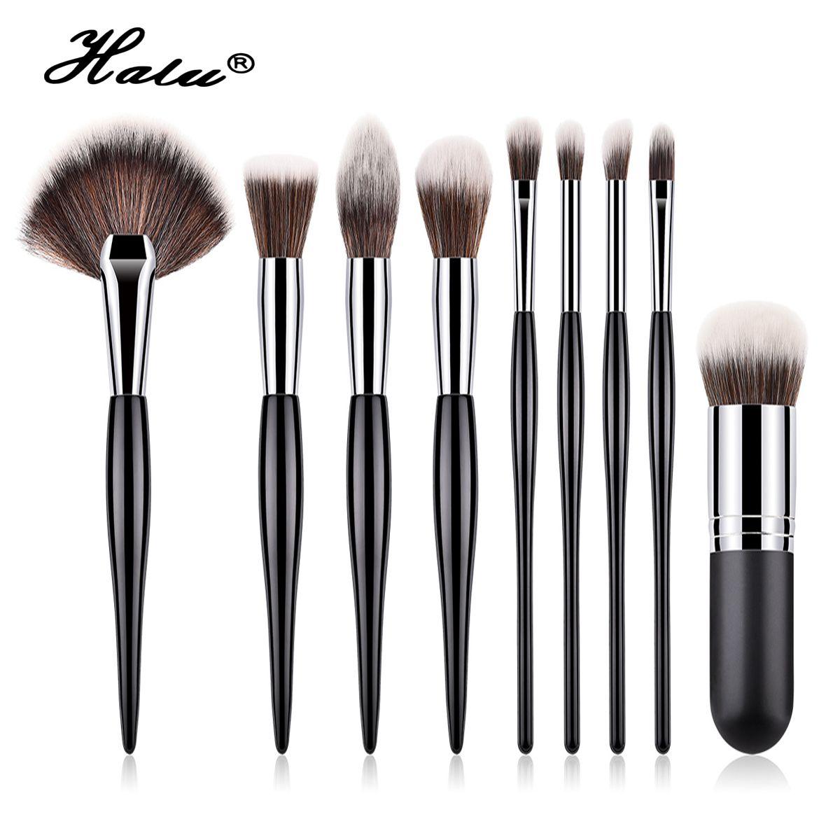 Popular Brand 10pcs Beauty Leg Make Up Brush Set Fan Eyeshadow Eyeliner Eyebrow Brush Eye Makeup Kits Colorful Mermaid Rose Gold Makeup Brush Makeup Beauty & Health