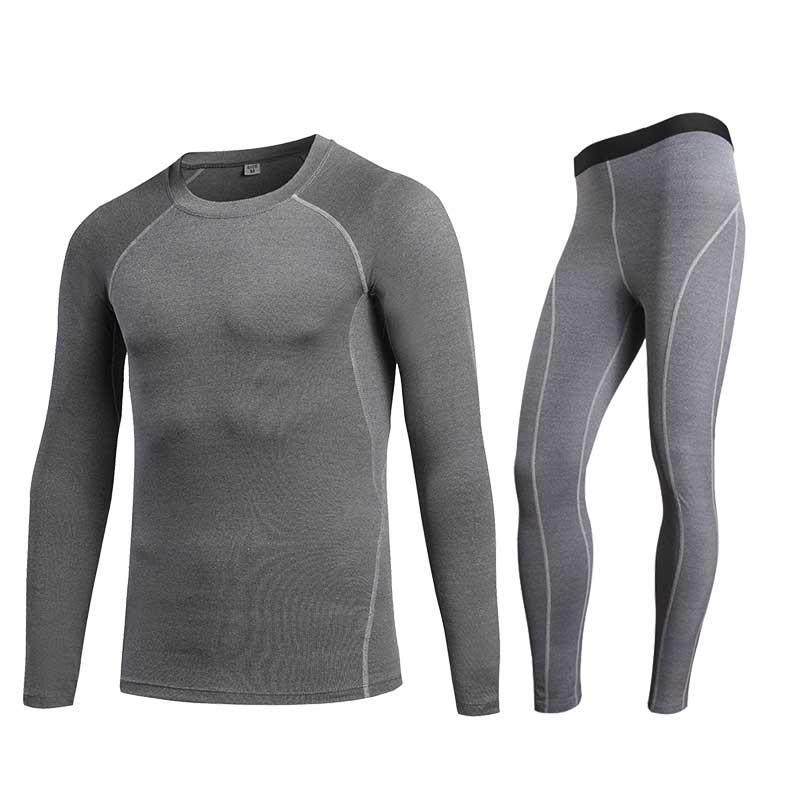 912366b7b1dd5 Men GYM Compression Fitness Sets Tee Top + Legging Workout Exercise ...