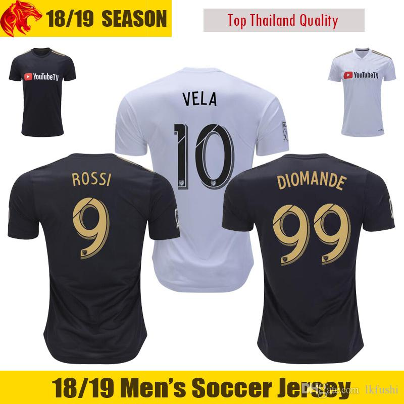 2019 2018 Los Angeles FC Soccer Jersey DIOMANDE BLESSING 18 19 LAFC CARLOS VELA  Soccer Shirt FEILHABER Football Shirt CIMAN ROSSI LAFC Jersey From Lkfushi 612cc10ad