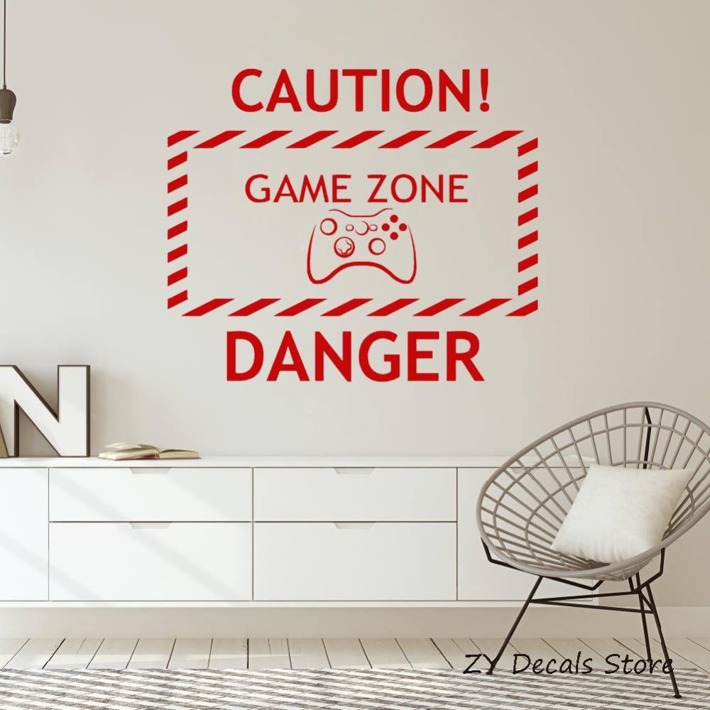 . Newly Home Vinyl Wall Decal Boys Room Game Zone Video Game Teen Room  Decoratioon Gaming Wall Stickers Home Decor Bedroom S735