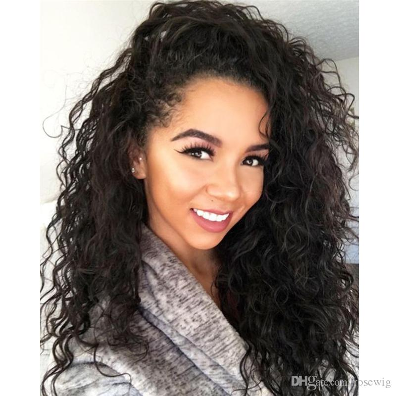 Glueless Full Lace Human Hair Wigs Soft Malaysian Lace Front Wigs Virgin Big Curly Hair Full Lace Front Wigs For Black Women