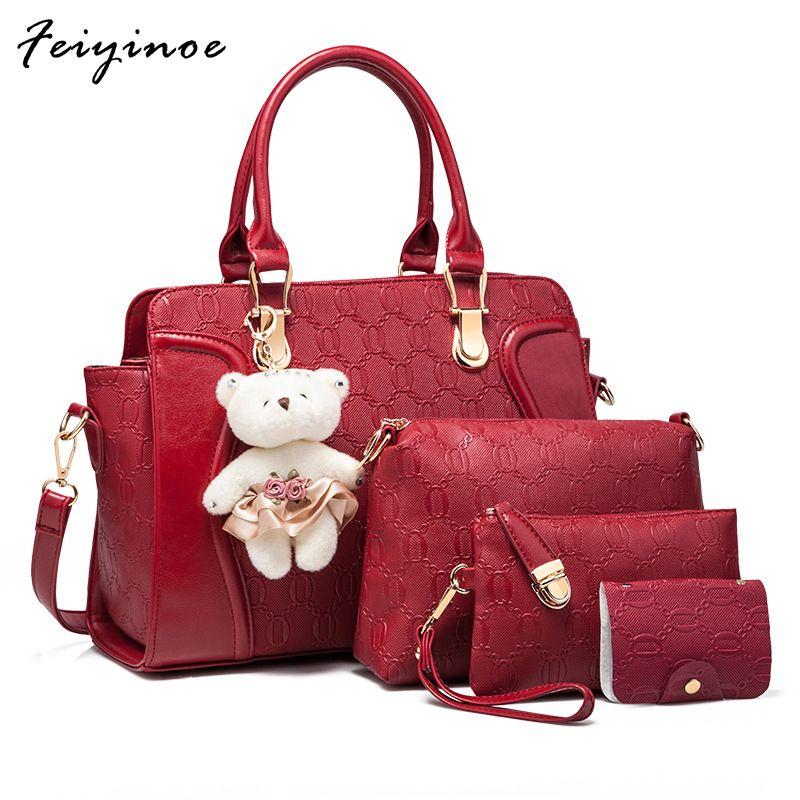 Women Handbags Four Sets Bag Leather Bag Fiorelli Handbags Ladies Purses  From Asomemistake a033f20edfdf0