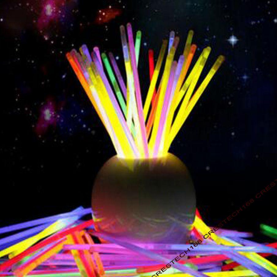 200 мм партия палочки светящиеся палочки браслет ожерелья неоновые партии LED мигающий свет палочки палочка новинка игрушки LED вокальный концерт LED Флэш-палочки