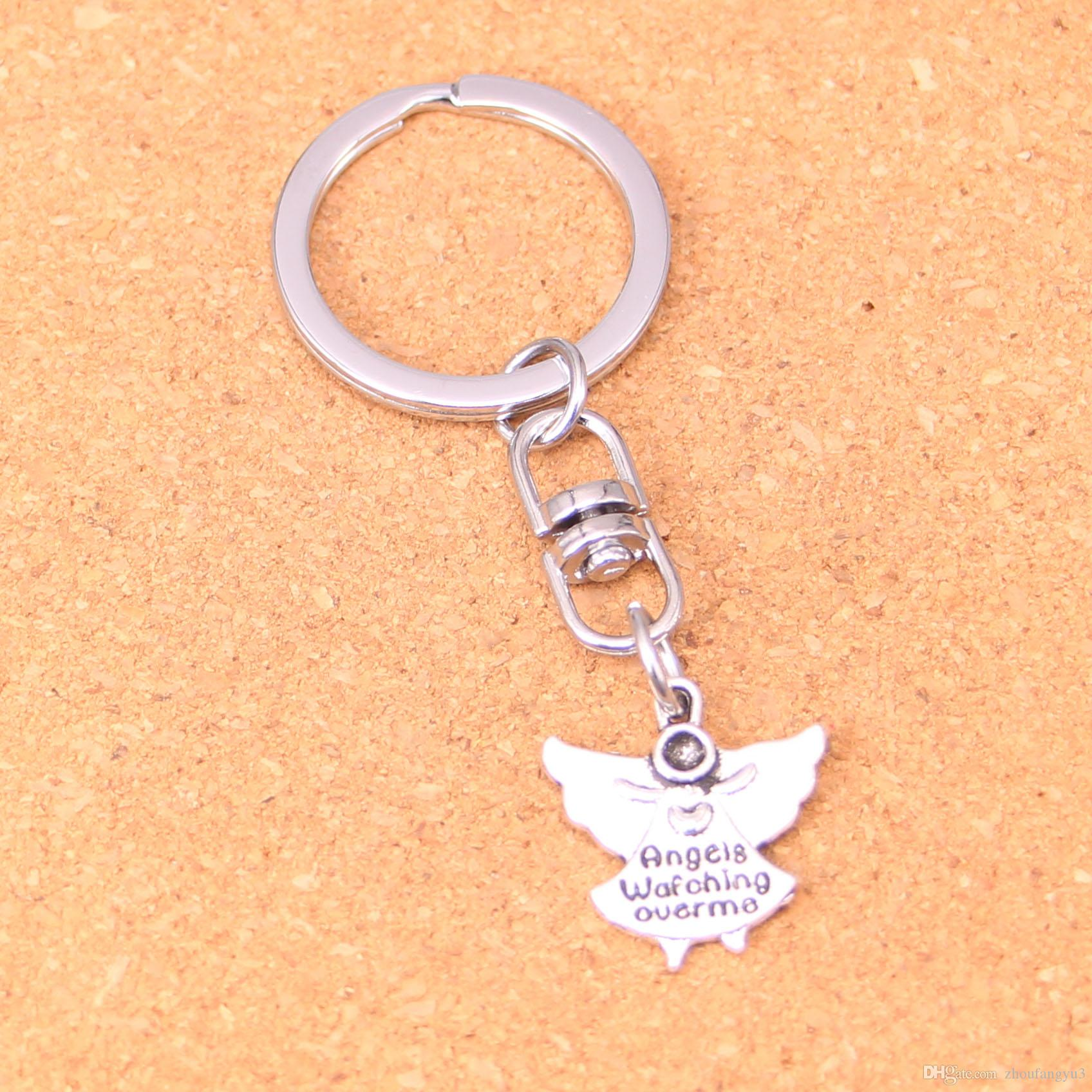 New Design Guardian Angel Watching Over Me Keychain Car Key Chain Key Ring  Silver Pendant For Man Women Gift UK 2019 From Zhoufangyu3 b32e46db6